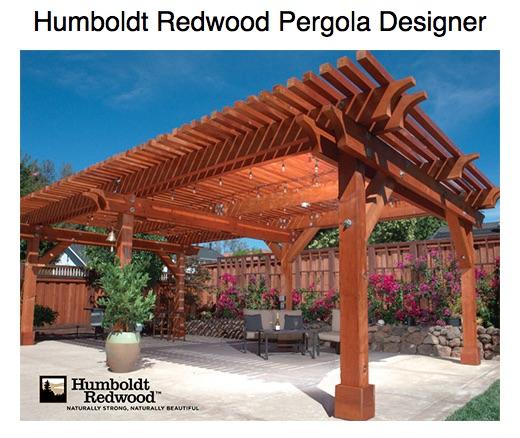 Humboldt Redwood Pergola Designer